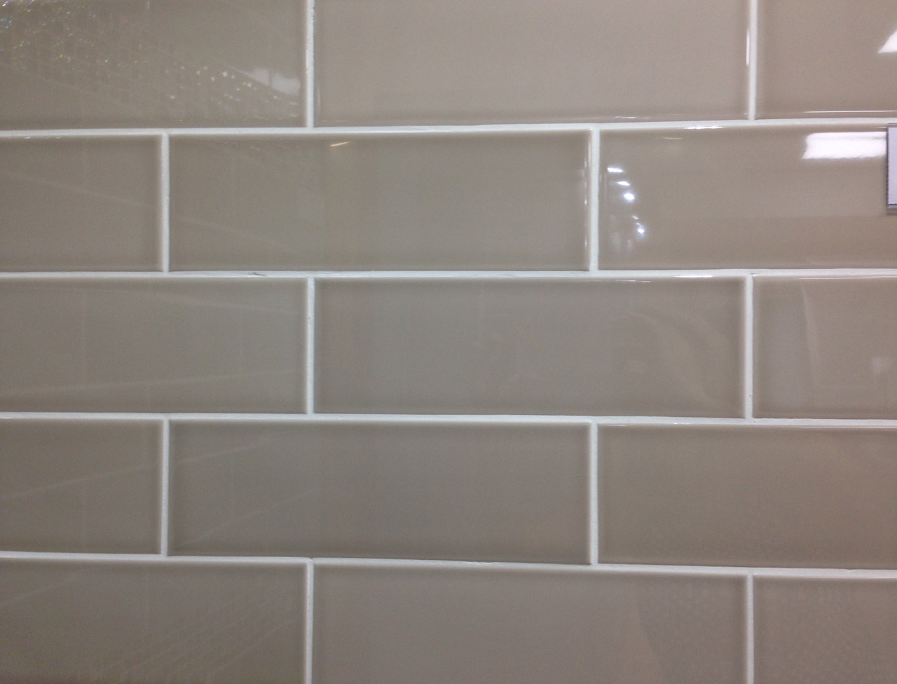 Gloss Beige Metro Glazed Ceramic Wall Tile Suitable For