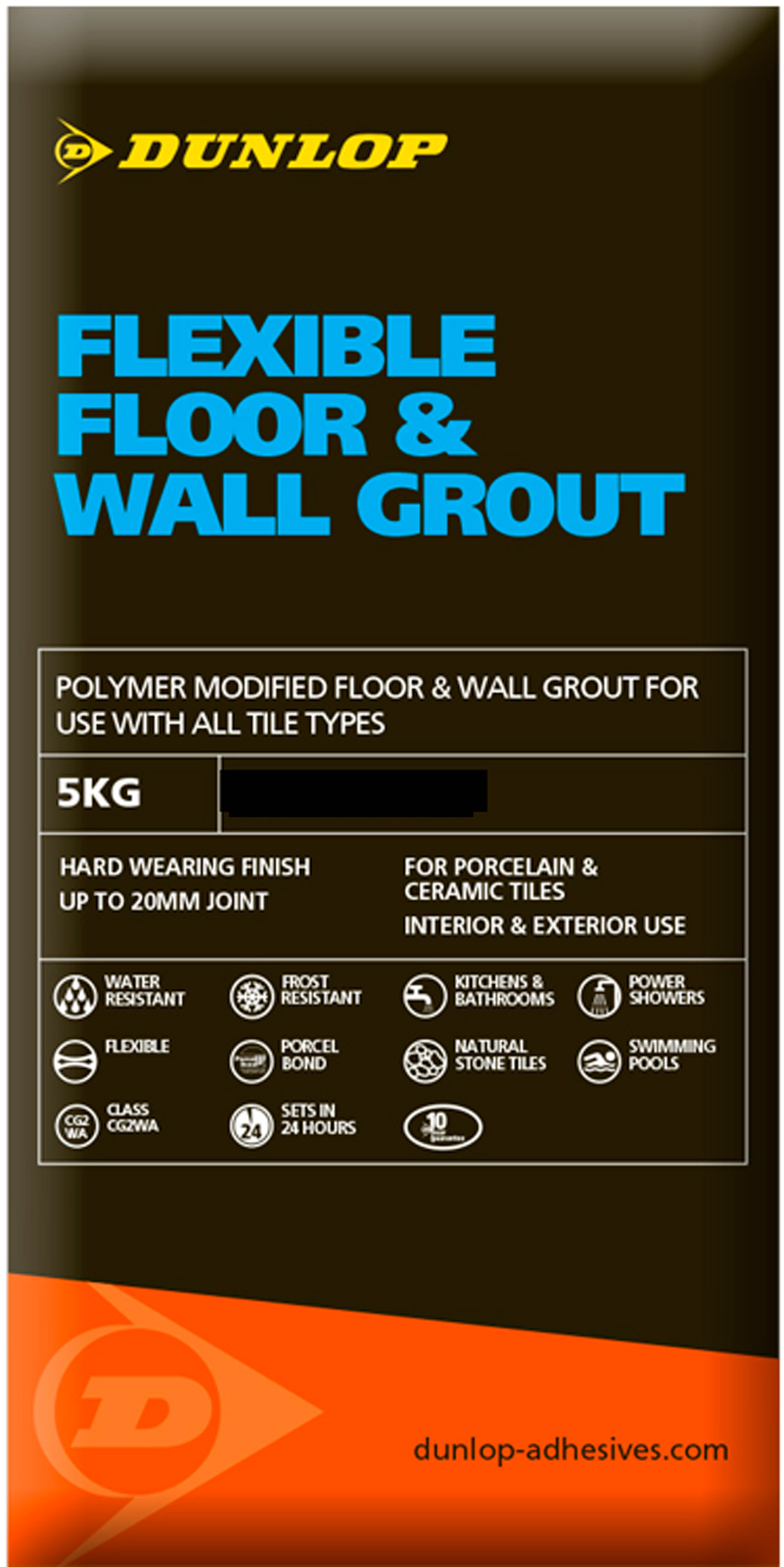 5kg dunlop flexible floor wall grout grey dailygadgetfo Gallery