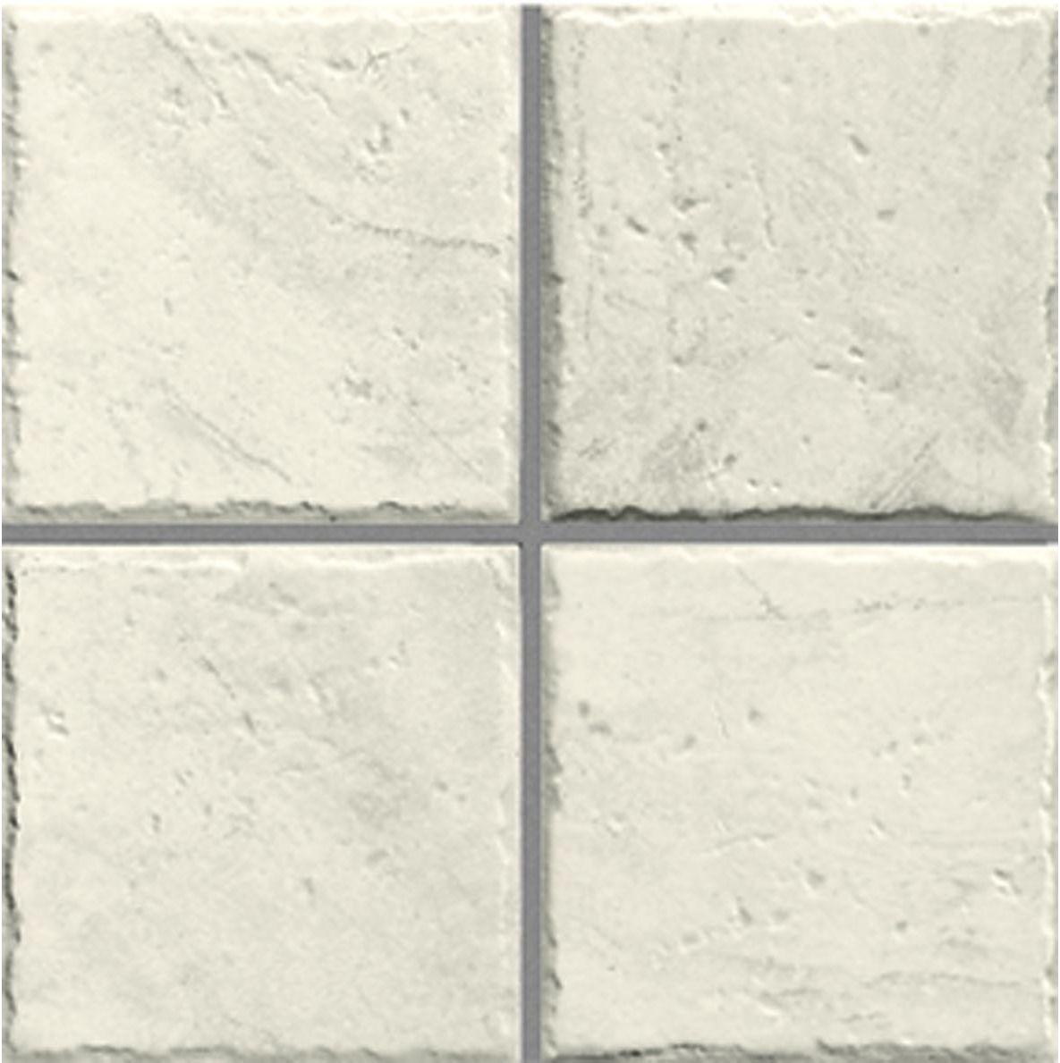 Matt white glazed ceramic wall tile, with slight textured ...